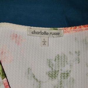 Charlotte Russe Dresses - Floral Bodycon Peplum Semi-Formal Dress